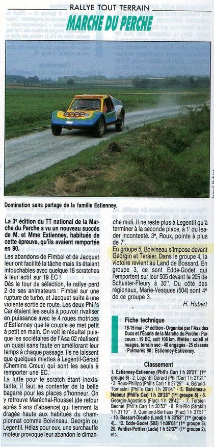 1991 - Echappement - Rallye TT La Marche du Perche