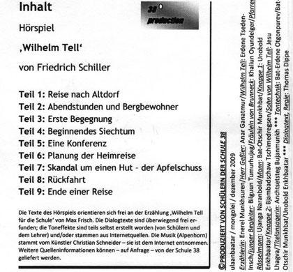 Inhaltsuebersicht zum Hoerspiel 'Wilhelm Tell'