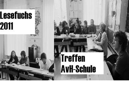 Das Finale rückt näher: Treffen der Projektgruppe 'Lesefuchs' am 27.11. 2011 in der Alexander von Humboldt-Schule.