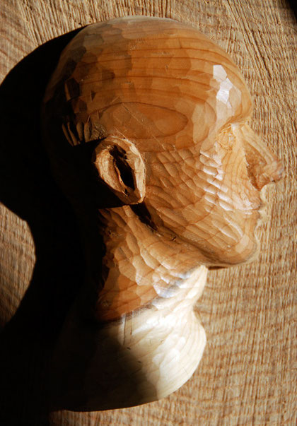 Relief Head I 2010 (Yew and Ash)