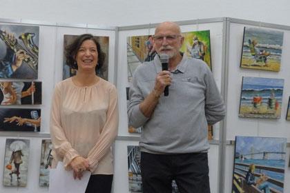 Michel Martin et la présidente du Foyer Culturel Mme Violaine PAPI