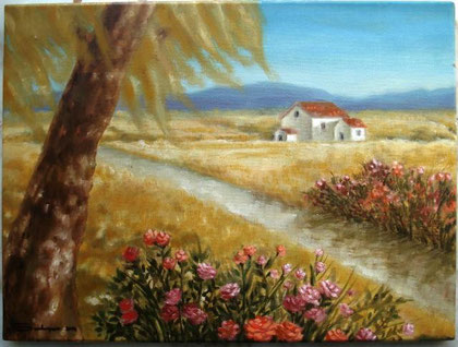 Salazar Marianela - Fuori città - olio tela - 40 X 30 2012