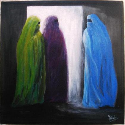 Nobili Maria - Identità nascosta - acrilico tela - 30 X 30