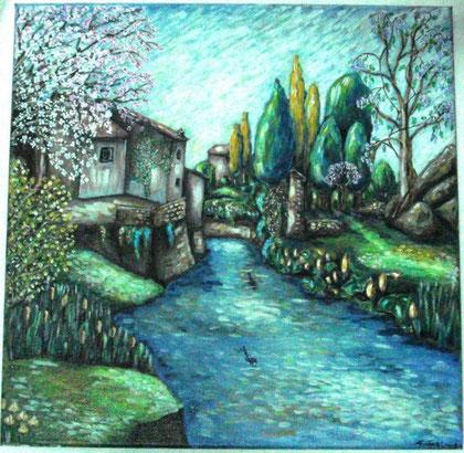 Rubicondi Patrizia – Angolo di quiete - olio tela - 40 x 40