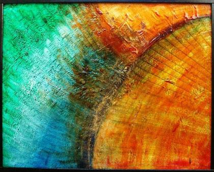 Gatto Anna - Il sole - olio tela - 50 X 40