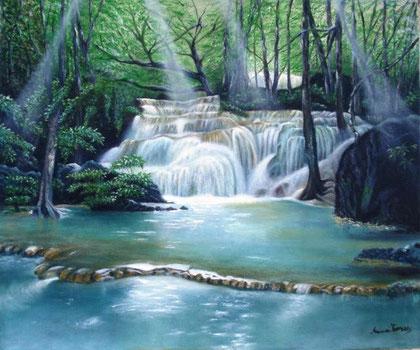 Torres Anna - La cascata - olio tela - 60 X 50