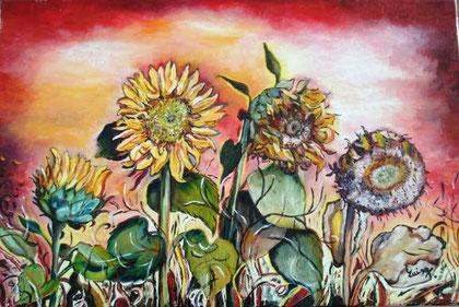 Tomarchio Domenica Luisa - Le quattro stagioni - olio tela - 60 X 40