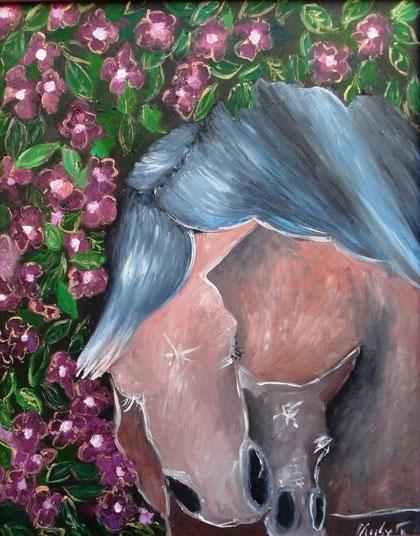 Ruffini Umberta - maternità - olio faesite - 40 X 50