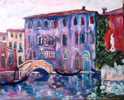 Scarpel Tiziano - Rio dei Tolentini - olio tela - 50 X 40