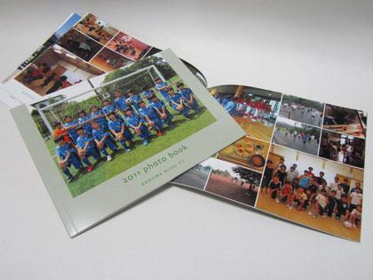 2011年度U-12の記録をphotobookに編集し 6年生を送る会の記念品にしました