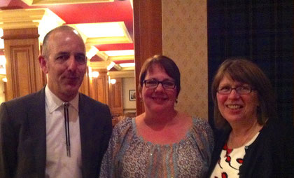 Chris Priestley, me, and Angus Book Awards organizer extraordinaire, Moyra Hood
