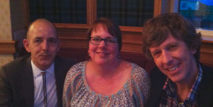 Chris Priestley, me and Tim Bowler