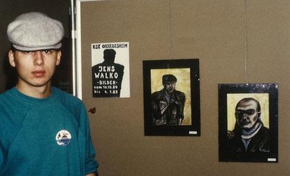 Jens Walko, Ausstellung Neckarsulm1984, Portrait