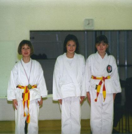 Nathalie à droite de la photo - Février 1999