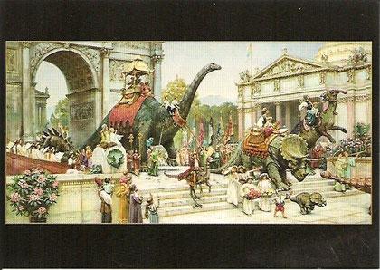 Une autre vue de Dinotopia. Dinosaur Parade.