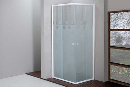 Mampara de ducha blanco con vidrio