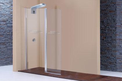 Mampara de ducha con vidrio y serigrafía personalizada
