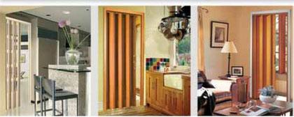 Fotografías puertas plegables pvc