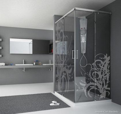 Mampara de ducha ractangular Magna-A
