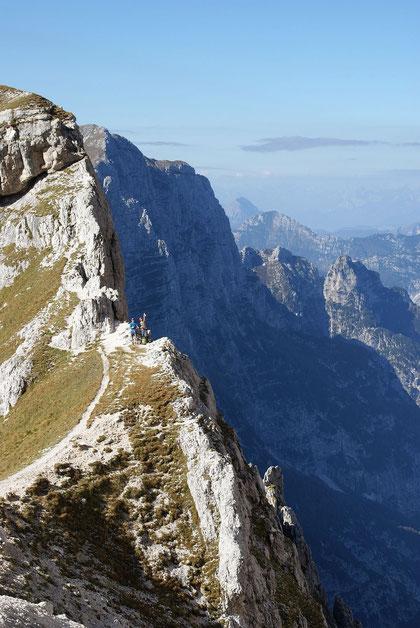 Forca dei Disteis, im Hintergrund (links) der Monte Cimone