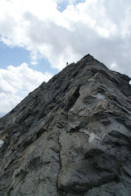 Der Anstieg zurück hinauf vom Kleinelendkees zum Ankogel