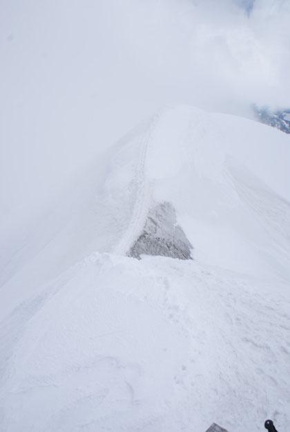 Der ausgesetzte Gipfelgrat auf den Großvenediger