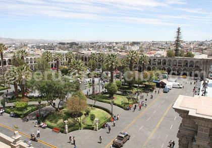Place d'armes Arequipa  Pérou