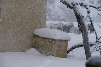 la neige au Revest du Bion
