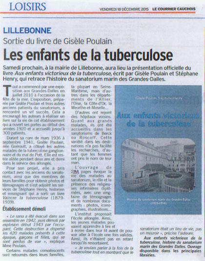 Article Le Courrier Cauchois (Vendredi 18 décembre 2015)