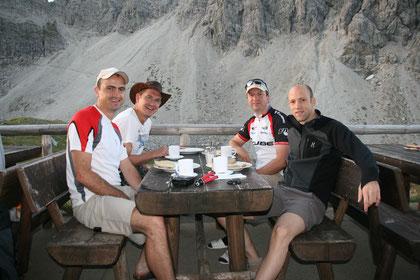 Florian Seiler, Stefan Hubel, Jürgen Löfflad und Harald Löfflad (v. l. n. r.)