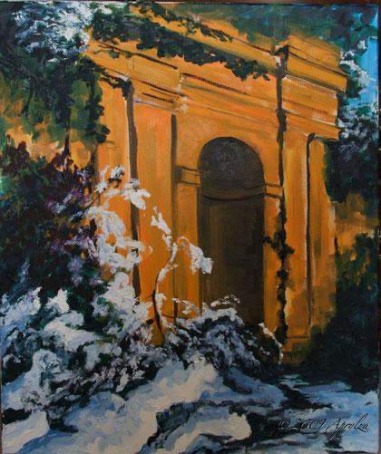 0037-l'hiver dans le jardin de St Marc Jaumegarde, 60/50cm oil on canvas