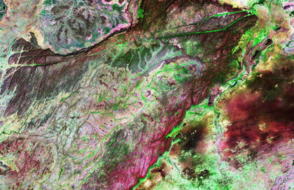 Photo satellite du pays DOGON
