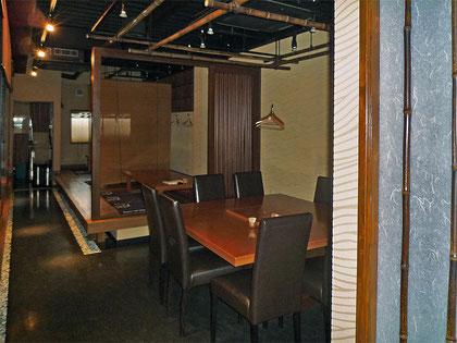 建築 施工例 岡山市の飲食店 店舗デザイン、内装