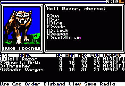"""Fargos postapokalyptischer RPG-Klassiker von 1988: """"Wasteland"""" auf Apple II."""