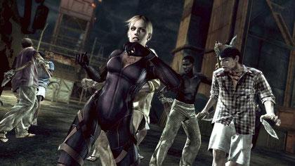"""Verärgerte viele SerienFans durch seine Koop-Lastigkeit: Das dank eines zweiten Charakters nicht mehr ganz so gruselige """"Resident Evil 5""""."""