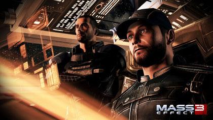 """Sollen jetzt wieder 'rolliger' auftreten: """"Mass Effect 3""""-Commander Shepard und seine Crew."""