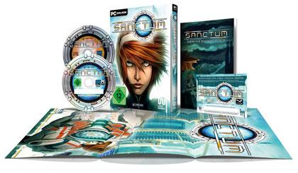 """Extras wie ein Soundtrack, zwei Aktivierungs-Keys und ein Comic sollen die Boxed-Version von """"Sanctum"""" von der Download-Version des Spiels abheben."""