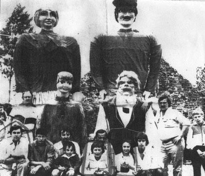 Les Géants et leur porteurs en 1978