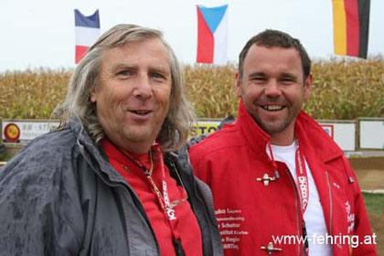 Wir hatten die 1. EUROPAMEISTERSCHAFT 2010 veranstaltet.ÖFMAV - LS Obmann Ed Prochaska mit Obmann Walter Wendler WMW - Fehring Stmk./ A