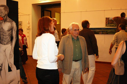 "Vernissage de l'exposition ""Laurent Gaillhac"" à Bagnacavallo en septembre 2011"