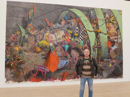 In der Jonas Burgert Ausstellung