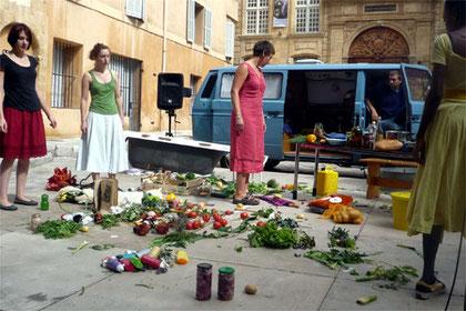 Représentation place de l'Archevêché, Aix-en-Provence, Septembre 2009