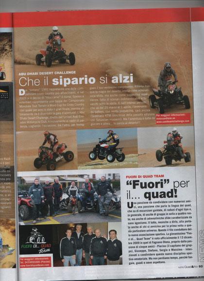 """il Fuori di.. Quad Team su """"TuttoQuad&Atv"""" !!! a pagina 93"""