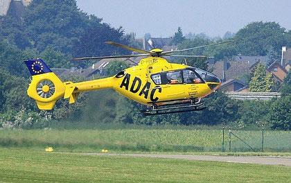 Rettungs-Hubschrauber stationiert in Merzbrück