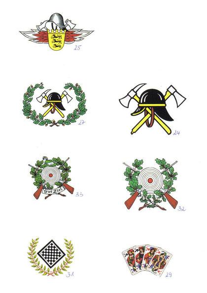 #Dekorbilder für #Berufsfeuerwehr, #FreiwilligeFeuerwehr, #Schützenverein, #Schachklub und die #Skatrunde #vereinsgläser
