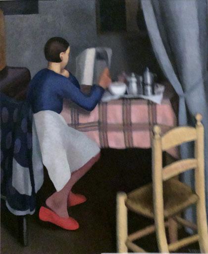 Daphne Maugham Casorati, La Calazione, 1929, Öl auf Leinwand, 121 x 100 cm, Privatsammlung