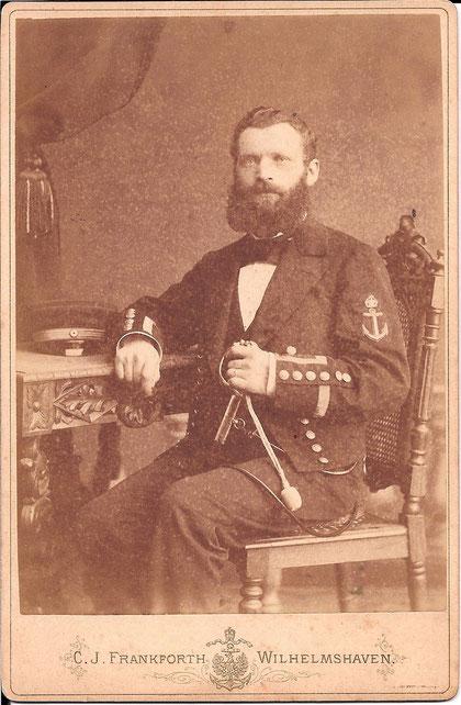 Marinefeuerwerker Paul Julius Otto Hoffmeister 1852 - 1931 (Beckröge)