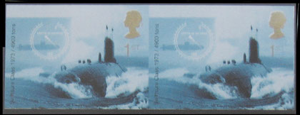 Great Britain: 2001 Submarine Service issue, 1st class value in imperforate pair.