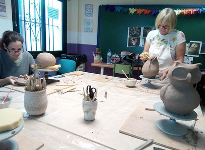 clase de ceramica Mari Orikasa Benalmadena pueblo