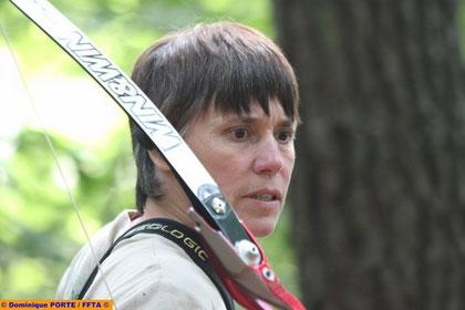 Véronique Grimault, championne de France de tir en campagne BB (photo: D.Porte)